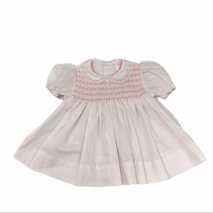 Petit Ami Hand Embroidered Pink Baby Dress